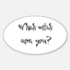 Which Witch Are You Oval Decal