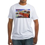 Camp Gruber Oklahoma (Front) Fitted T-Shirt