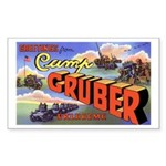 Camp Gruber Oklahoma Rectangle Sticker