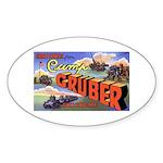 Camp Gruber Oklahoma Oval Sticker