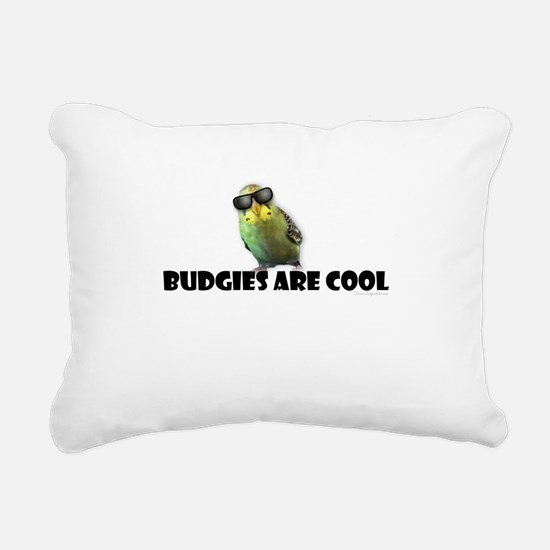 Budgies are Cool Rectangular Canvas Pillow
