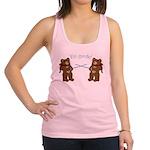 Teddy Bear Fencers Racerback Tank Top