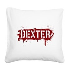 Dexter [grunge stencil] Square Canvas Pillow