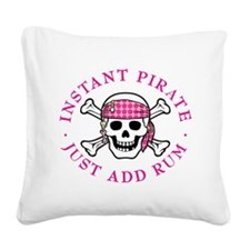 Instant Pirate Lady Square Canvas Pillow