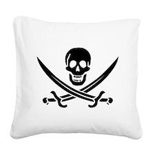 Calico Jack Pirate Square Canvas Pillow