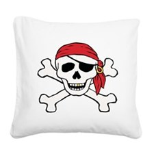 Funny Pirate Square Canvas Pillow