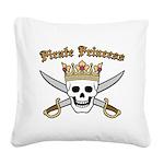 Pirate Princess Square Canvas Pillow