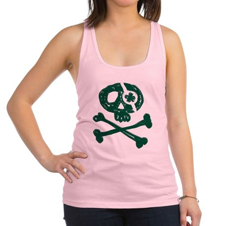 Funny St. Patty's Pirate Racerback Tank Top