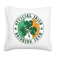 irish_drinking_team_v.png Square Canvas Pillow