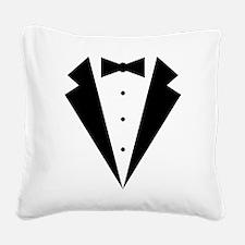 Minimalist Funny Tuxedo Square Canvas Pillow