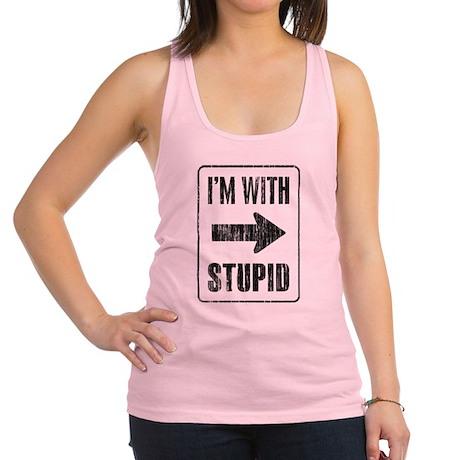 Vintage I'm With Stupid [r] Racerback Tank Top