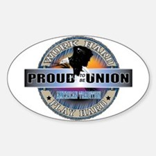 Proud to be Union Sticker (Oval)