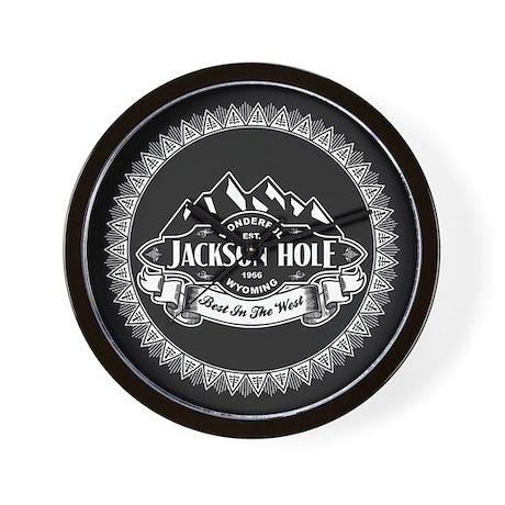 Jackson Hole Mountain Emblem Wall Clock