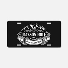 Jackson Hole Mountain Emblem Aluminum License Plat