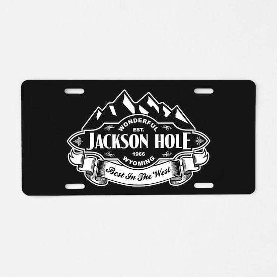 Jackson Hole Mountain Emblem Aluminum License Plat