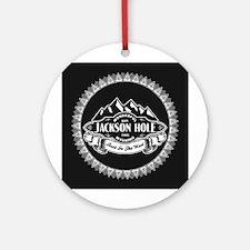 Jackson Hole Mountain Emblem Ornament (Round)