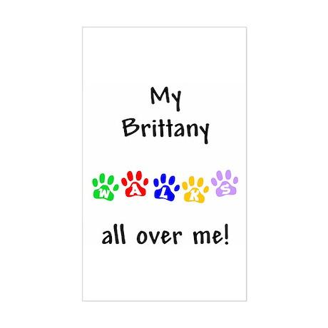 Brittany Walks Rectangle Sticker