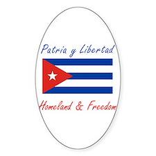 Patria y Libertad Cuba Oval Decal