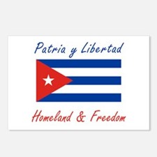 Patria y Libertad Cuba Postcards (Package of 8)
