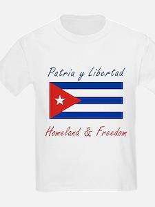 Patria y Libertad Cuba Kids T-Shirt