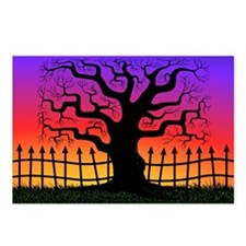Spooky Tree at Sunset Postcards (Package of 8)