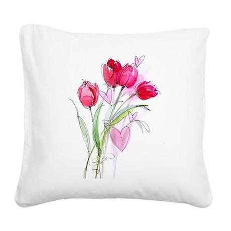 Tulip2a.jpg Square Canvas Pillow