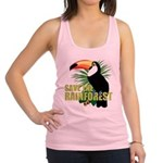 save_rainforest.png Racerback Tank Top