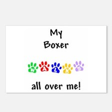 Boxer Walks Postcards (Package of 8)