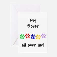 Boxer Walks Greeting Cards (Pk of 10)