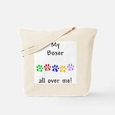 Boxer Walks Tote Bag