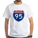 Interstate 95 White T-Shirt