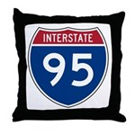 Interstate 95 Throw Pillow