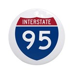 Interstate 95 Ornament (Round)