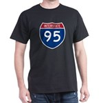 Interstate 95 Black T-Shirt