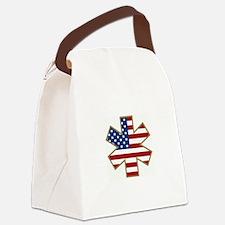 EMTstarLifeUSA.jpg Canvas Lunch Bag