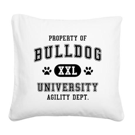 Property of Bulldog Univ. Square Canvas Pillow