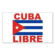 Cuba Libre Free Cuba Rectangle Decal