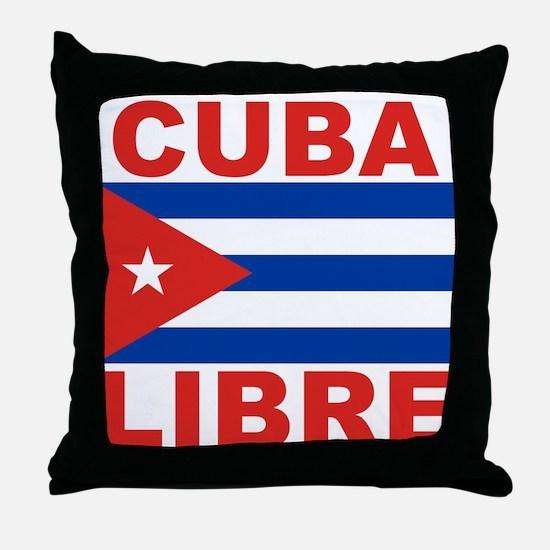 Cuba Libre Free Cuba Throw Pillow