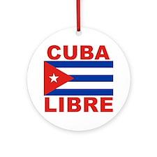 Cuba Libre Free Cuba Ornament (Round)