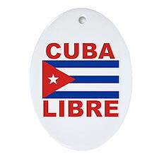 Cuba Libre Free Cuba Oval Ornament