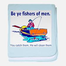 Be ye fishers of men baby blanket