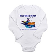 Be ye fishers of men Long Sleeve Infant Bodysuit