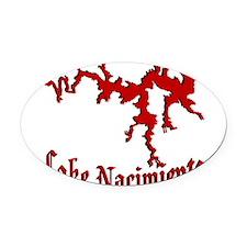 NACI_822_crimson.png Oval Car Magnet