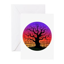 Spooky Tree at Sunset Greeting Cards (Pk of 10)