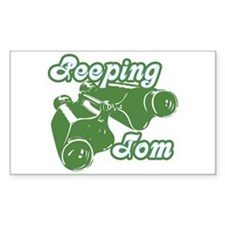 Peeping Tom Rectangle Decal