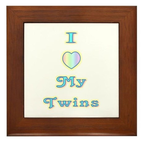 """Baby Love Twins"" Framed Tile"