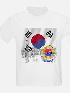 Silky Flag Daehan Minguk Kids T-Shirt