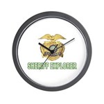 Sheriff Explorer Wall Clock
