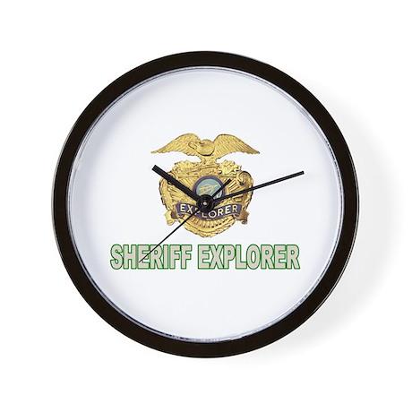 Sheriff Explorer Wall Clock