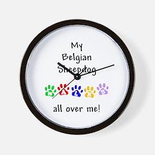 Belgian Sheepdog Walks Wall Clock